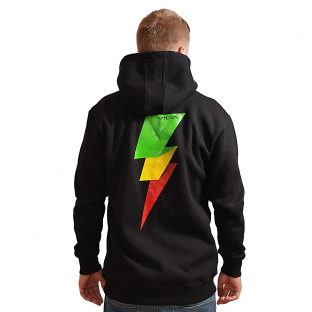 Rasta Power Black Hoodie VIDA clothing