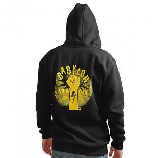 The Fall of Babylon Black Hoodie VIDA clothing