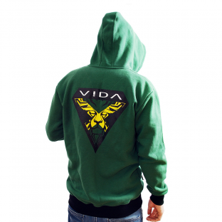 Jamaica Lion Green Hoodie VIDA clothing