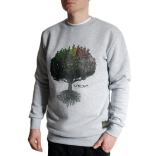 CITY ROOTS GREY CREWNECK YOUR SIZE: S