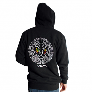 Lionface Rear Hoodie Black YOUR SIZE: S