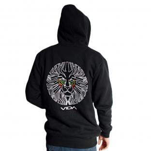 Lionface Rear Hoodie Black