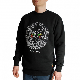 LIONFACE FRONTAL BLACK CREWNECK