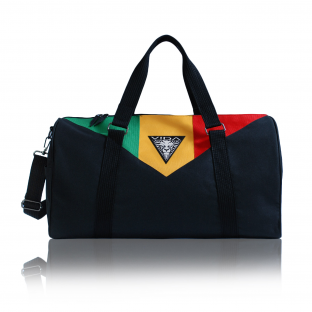 Duffle Bag Black Rasta Travel Bag