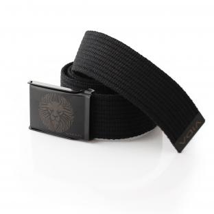 LionFace Black Canvas Belt