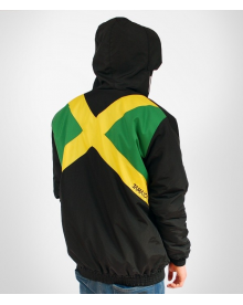 BLACK WINTER JACKET 'VIDA JAMAICA VERTICAL''
