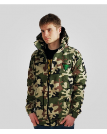 "WINDBREAKER JACKET ""VIDA JAH SOLDIER"" CAMO"